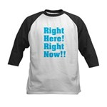 Right Here! Right Now!! Kids Baseball Jersey