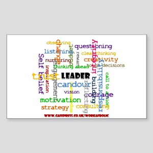 Leadership Traits Colour Rectangle Sticker