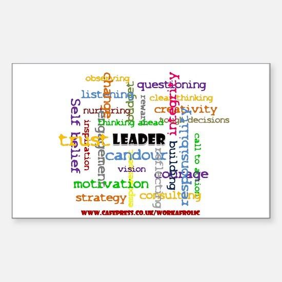 Leadership Traits Colour Rectangle Decal