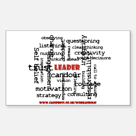 Leadership Traits Rectangle Decal