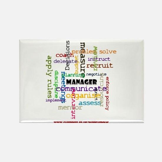 Manager Traits Colour Rectangle Magnet