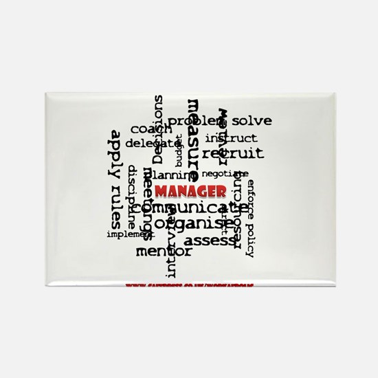 Manager Traits Rectangle Magnet