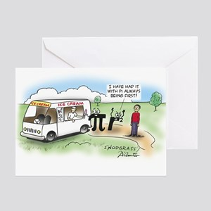 Ice Cream Pi Greeting Card