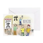 Pi Autograph Greeting Card