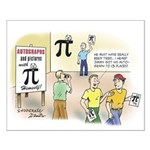 Pi Autograph Small Poster