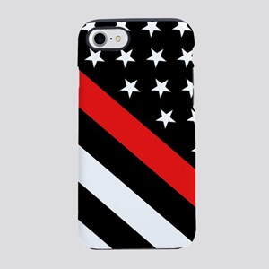 Firefighter Flag: Thin Red Lin iPhone 7 Tough Case