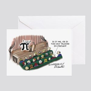 Talking In Circles Greeting Card