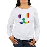 1 Smiley Rainbow Women's Long Sleeve T-Shirt