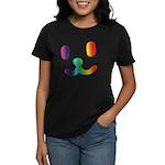 1 Smiley Rainbow Women's Dark T-Shirt