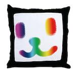 1 Smiley Rainbow Throw Pillow