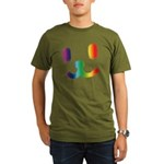 1 Smiley Rainbow Organic Men's T-Shirt (dark)
