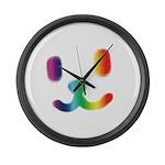 1 Smiley Rainbow Large Wall Clock