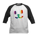 1 Smiley Rainbow Kids Baseball Jersey