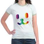 1 Smiley Rainbow Jr. Ringer T-Shirt