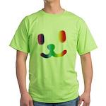 1 Smiley Rainbow Green T-Shirt