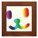 1 Smiley Rainbow Framed Tile