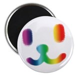 """1 Smiley Rainbow 2.25"""" Magnet (10 pack)"""
