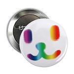 "1 Smiley Rainbow 2.25"" Button"