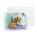 Blood Bank Greeting Card