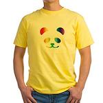 Panda Rainbow Yellow T-Shirt