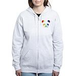 Panda Rainbow Women's Zip Hoodie