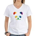 Panda Rainbow Women's V-Neck T-Shirt