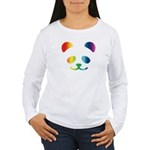 Panda Rainbow Women's Long Sleeve T-Shirt