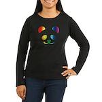 Panda Rainbow Women's Long Sleeve Dark T-Shirt