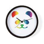 Panda Rainbow Wall Clock