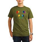 Panda Rainbow Organic Men's T-Shirt (dark)