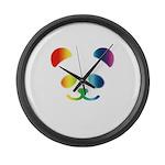 Panda Rainbow Large Wall Clock