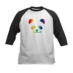 Panda Rainbow Kids Baseball Jersey