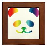 Panda Rainbow Framed Tile