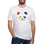 Panda Rainbow Fitted T-Shirt