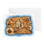 Treasure Map Greeting Card