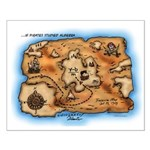 Treasure Map Small Poster