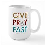 Give Pray Fast 15oz Mugs