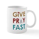 Give Pray Fast 11oz Mugs
