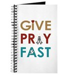 """Give Pray Fast 5x8"""" Journal - 160 Pages"""