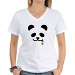 Panda Juicy Rainbow Women's V-Neck T-Shirt