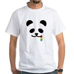 Panda Juicy Rainbow White T-Shirt