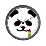 Panda Juicy Rainbow Wall Clock