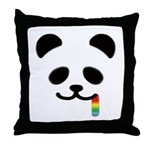 Panda Juicy Rainbow Throw Pillow