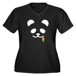 Panda Juicy Rainbow Women's Plus Size V-Neck Dark