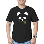 Panda Juicy Rainbow Men's Fitted T-Shirt (dark)