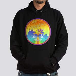 Sunset Healing OM Mandala Hoodie (dark)