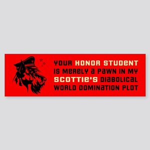 Scottie World Domination Bumper Sticker