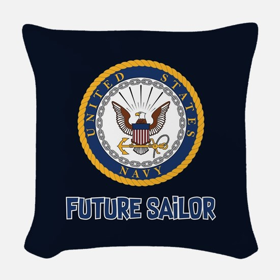 U.S. Navy Future Sailor Woven Throw Pillow