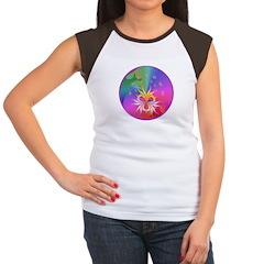 Night birds Mandala Women's Cap Sleeve T-Shirt