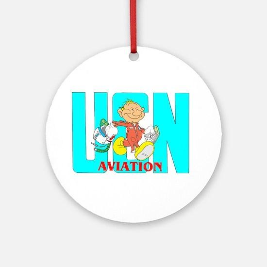 NAVY PILOT Ornament (Round)